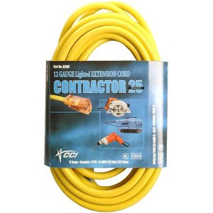 Coleman Cable 02587 12/3 25' Outdoor Extension Cord