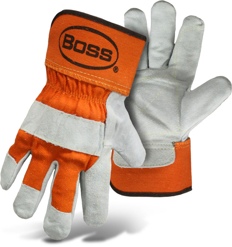 Boss 1JL2393X X-Large Double Split Leather Palm with Rubberized Safety Cuffs