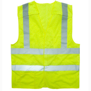 Cordova VB221PFR Class II Hi-Viz Lime Safety Vest 5 Point Breakaway Design