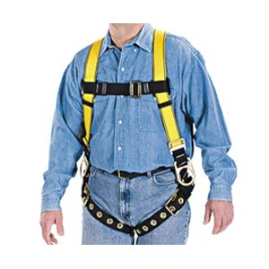 MSA 10072491 Workman Universal Yellow Full Body Harness: 3 D-Rings