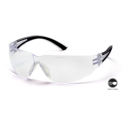 c284ad70f1 Pyramex SB3610S Cortez Safety Glasses  Clear Lens Wraparound Black Frame