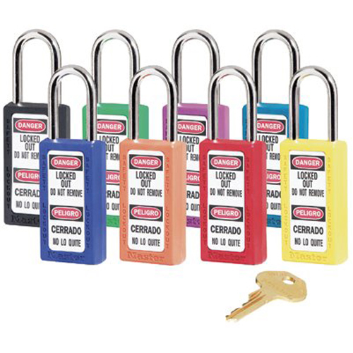 "Master Lock 411KALTGRN Safety Series 411 Bilingual Green Xenoy Body Safety Padlock: Keyed Alike 3"" Shackle"