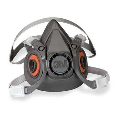 3M 6000 Series 6100 Small Reusable Half Mask Respirator