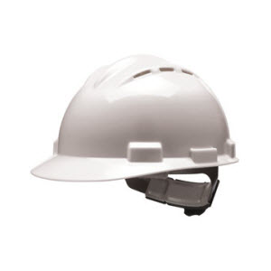 Bullard S62WHR Vented Series White HDPE Flex-Gear 4-Point Ratcheting Suspension Cap Style Hardhat
