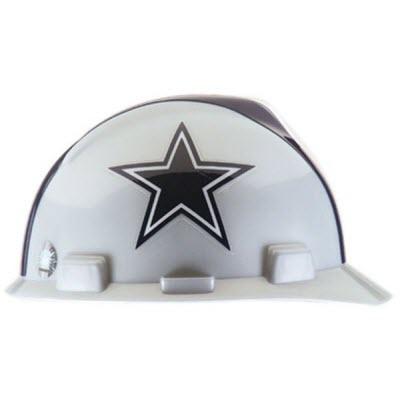 MSA 818392 NFL V-Gard Dallas Cowboys 1-Touch 4-Point Suspension Cap Style  Hardhat  818392  d5f357e32