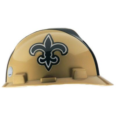 MSA 818402 NFL V-Gard New Orleans Saints 1-Touch 4-Point Suspension Cap  Style Hardhat  818402  8a74a5f00