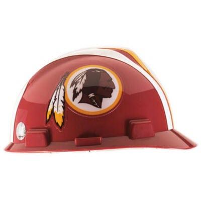 MSA 818414 NFL V-Gard Washington Redskins 1-Touch 4-Point Suspension Cap  Style Hardhat  818414  6065252c6