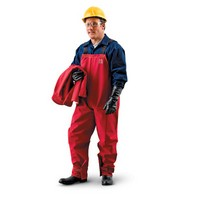 Ansell Edmont 66-662-3X Ansell 3X Red Sawyer-tower CPC Polyester Gore Chemical Splash Bib Overalls