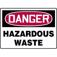 Chemical Sign Hazardous Waste Signs Accuform MCHD23 Safety Signs