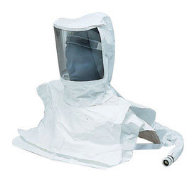 Allegro Industries 9912-D Double Bib Maintenance Free Tyvek Hood Assembly with Low Pressure Flow Adapter and Suspension