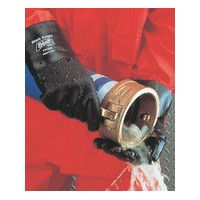 "SHOWA Best Glove 7712R-10 SHOWA Best Glove Large Black Knight PVC Glove With 12"" Cuff (72 Pair Per Case)"