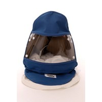 Bullard GRHTC30R Bullard GR50 Style Nomex Double Bib Supplied And Powered Air Purifying Hood With Acetate Lens And C30 Hard Hat