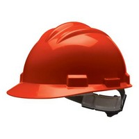 Bullard 61RDR Bullard S61 Series Red Safety Cap With 4 Point Ratchet Headgear And Cotton Browpad