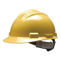 Bullard 61YLR Bullard S61 Series Yellow Safety Cap With 4 Point Ratchet Headgear And Cotton Browpad