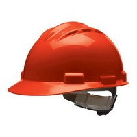 Bullard 62RDR Bullard S62 Series Red Vented Safety Cap With 4 Point Ratchet Headgear And Cotton Browpad