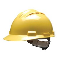 Bullard 62YLP Bullard S62 Series Yellow Vented Safety Cap With 4 Point Pinlock Headgear And Cotton Browpad
