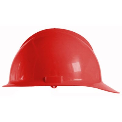 Bullard C30RDR Classic Series Red HDPE Flex-Gear 6-Point Ratcheting Suspension Cap Style Hardhat
