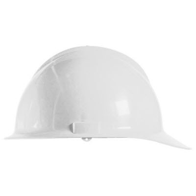 Bullard C30WHR Classic Series White HDPE Flex-Gear 6-Point Ratcheting Suspension Cap Style Hardhat