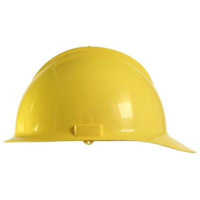 Bullard C30YLR Classic Series Yellow HDPE Flex-Gear 6-Point Ratcheting Suspension Cap Style Hardhat