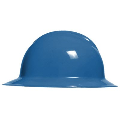 Bullard C33KBR Classic Series Kentucky Blue HDPE Flex-Gear 6-Point Ratcheting Suspension Full Brim Hardhat