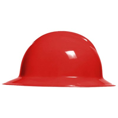 Bullard C33RDR Classic Series Red HDPE Flex-Gear 6-Point Ratcheting Suspension Full Brim Hardhat