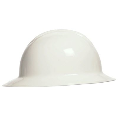 Bullard C33WHR Classic Series White HDPE Flex-Gear 6-Pont Ratcheting Suspension Full Brim Hardhat