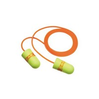 3M 311-4109 3M Single Use E-A-RSoft Superfit Tapered Foam Corded Earplugs With Metal Detectable Cord (2000 Pair Per Case)