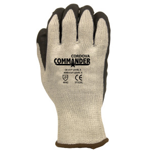 Cordova 3732 Commander Cut Resistant Gloves: 10-Gauge, Fiber Shell, Black Foam Nitrile Palm Coating