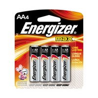Energizer E91BP-4 Energizer MAX AA Alkaline Battery (4 Per Card)