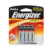 Energizer E92BP-4 Energizer MAX AAA Alkaline Battery (4 Per Card)