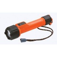 Energizer MS2AALED Energizer Orange LED Industrial Safety Flashlight With Lanyard (2 AA Batteries Included)