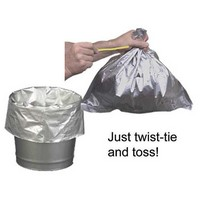 Justrite Manufacturing Co 26827 Justrite Disposable Bucket Liner For Smoking Receptacles With Twist Ties (10 Per Pack)