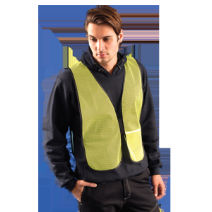 Occunomix LUX-XNTM-O4X OccuNomix 4X Hi-Viz Orange OccuLux Lightweight Polyester And Mesh Non-ANSI Economy Vest With Front Hook A
