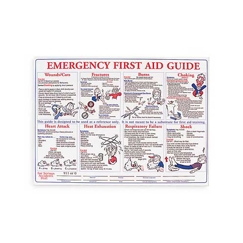 image about Printable First Aid Guides titled Stability Posters - - Brady United states PS128E 18\