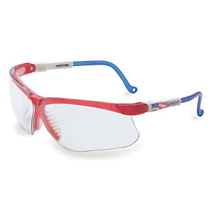 428135fbfe SPERIAN UVEX S3260X Genesis Safety Glasses  UVEXtreme Clear Lens Patriotic  Red