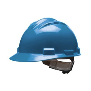 Bullard S62KBR Vented Series Kentucky Blue HDPE Flex-Gear 4-Point Ratcheting Suspension Cap Style Hardhat