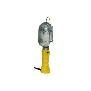 BAYCO SL425A Metal Shield Incandescent Utility Light: 25' 16 Gauge Cord Grounded Receptacle