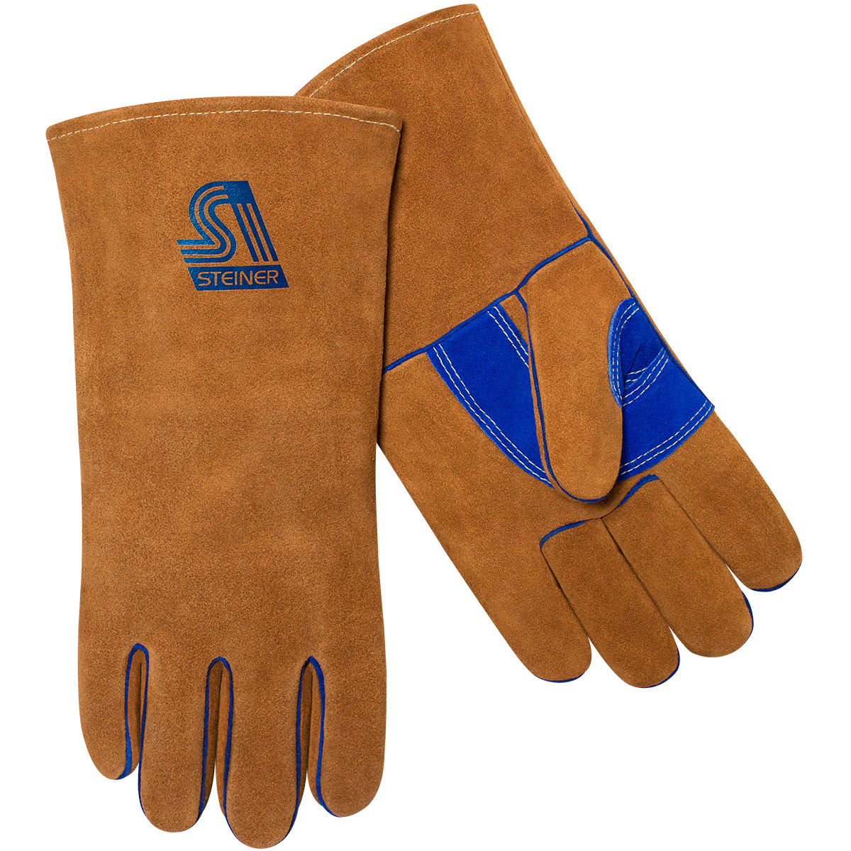 Steiner Industries 2119B-L Large Premium Side Split Cowhide Stick Welding Gloves ThermoCore Foam Lined