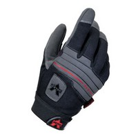 Valeo Inc V415-S Valeo Small Black Mechanics Anti-Vibe Full Finger Synthetic Leather Anti-Vibration Gloves With Elastic Cuff