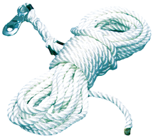 "Southeast Rigging RSA-58H40 40' 5/8"" Nylon Rope Tag Line: Single 3/4"" Snap Hook"